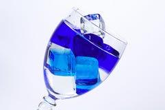 Ghiaccio blu Fotografie Stock Libere da Diritti