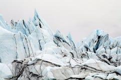 Ghiaccio blu del ghiacciaio del Matanuska dell'Alaska Immagini Stock Libere da Diritti