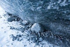 Ghiaccio blu glaciale Fotografia Stock Libera da Diritti