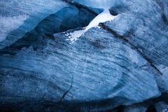 Ghiaccio blu glaciale Fotografie Stock Libere da Diritti