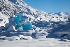Ghiaccio blu glaciale Immagine Stock Libera da Diritti