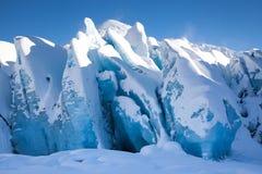 Ghiaccio blu glaciale Fotografia Stock