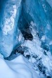 Ghiaccio blu glaciale Immagini Stock Libere da Diritti