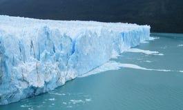 Ghiaccio blu glaciar Fotografia Stock