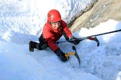 Ghiaccio che scala il Caucaso del nord Fotografia Stock