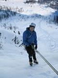 Ghiaccio che scala in Svizzera vicino a Tavate Fotografia Stock Libera da Diritti
