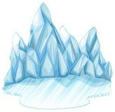 Ghiaccio congelato Fotografia Stock Libera da Diritti