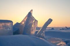 Ghiaccio congelato Fotografie Stock