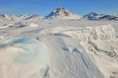 Ghiaccio congelato la Groenlandia fotografia stock