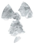 Ghiaccio congelato marchio di radioattività Fotografie Stock Libere da Diritti
