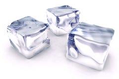 Ghiaccio dei cubi Fotografia Stock Libera da Diritti