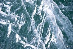 Ghiaccio del Baikal Crepe nel ghiaccio di Baikal Crepe di Baikal Crepe del ghiaccio Natura di Baikal fotografie stock libere da diritti