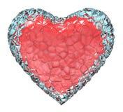 Ghiaccio del cuore Fotografia Stock Libera da Diritti