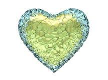 Ghiaccio del cuore Immagine Stock