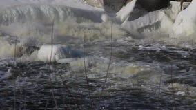 Ghiaccio del fiume di inverno video d archivio