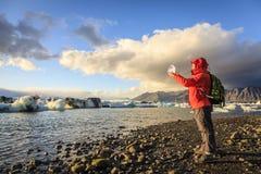 Ghiaccio del ghiacciaio Immagine Stock