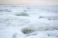 Ghiaccio del ghiaccio sea.white di inverno Immagini Stock