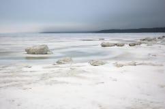 Ghiaccio del ghiaccio sea.white di inverno Fotografie Stock Libere da Diritti