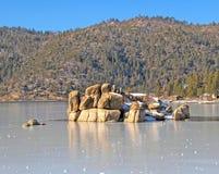 Ghiaccio del lago Immagine Stock Libera da Diritti