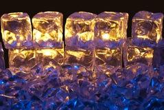 Ghiaccio dell'oro e dell'azzurro Fotografia Stock Libera da Diritti