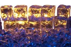 Ghiaccio dell'oro e dell'azzurro Immagini Stock