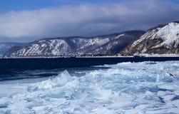 Ghiaccio-deriva sul lago Baikal Fotografie Stock Libere da Diritti