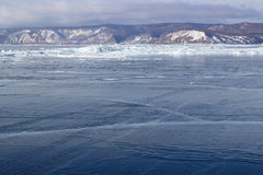 Ghiaccio-deriva sul lago Baikal Fotografia Stock Libera da Diritti
