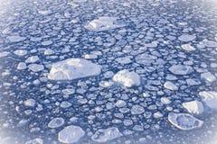 Ghiaccio di congelamento Fotografia Stock