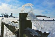 Ghiaccio di inverno Fotografie Stock