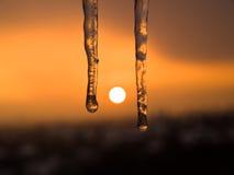 Ghiaccio di tramonto Fotografia Stock