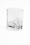 Ghiaccio di vetro isolato Fotografia Stock