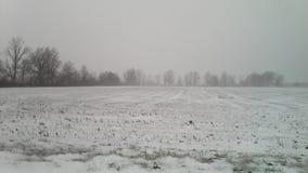 Ghiaccio e neve, fuori di Kemp Road a Lima, l'Ohio Immagine Stock