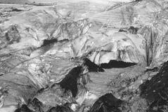 Ghiaccio glaciale con detriti rocciosi Immagine Stock Libera da Diritti
