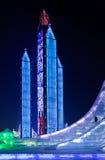 Ghiaccio internazionale e festival della scultura di neve, Harbin, Cina Immagini Stock Libere da Diritti