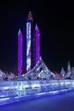 Ghiaccio internazionale e festival della scultura di neve, Harbin, Cina Fotografia Stock