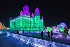 Ghiaccio internazionale e festival della scultura di neve, Harbin, Cina Immagine Stock