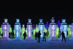 Ghiaccio internazionale e festival della scultura di neve, Harbin, Cina Immagini Stock