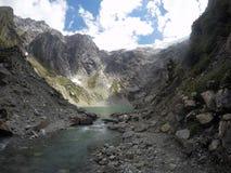 Ghiaccio Laguna della neve nel Cile fotografia stock