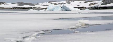 Ghiaccio marino antartico Immagine Stock