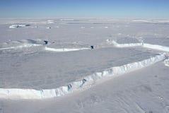 Ghiaccio marino sull'Antartide Immagini Stock