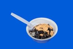 Ghiaccio nero della gelatina Fotografie Stock Libere da Diritti