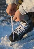 Ghiaccio-pattinare andante Fotografia Stock