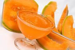 Ghiaccio schiacciato del melone Fotografie Stock Libere da Diritti