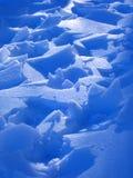 Ghiaccio sopra neve fotografia stock libera da diritti