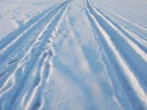 Ghiaccio-strada in stagno congelato Fotografie Stock