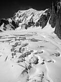 Ghiaccio su Mont Blanc fotografia stock