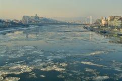 Ghiaccio sul Danubio fotografia stock libera da diritti