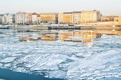 Ghiaccio sul Danubio immagine stock libera da diritti