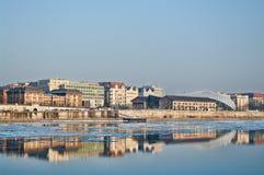 Ghiaccio sul Danubio fotografia stock