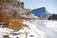 Ghiaccio sul fiume di colorado Fotografie Stock
